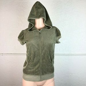 Juicy Couture Velour Track Jacket M Green Hoodie
